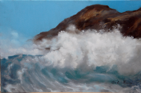 "Wave,                          oil/canvas, 12""x16"""