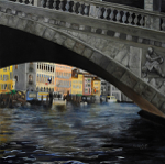 "Venitian Bridge,           oil/canvas, 36""x36"""