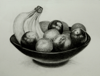 Cup of Fruits,   charcoal/paper