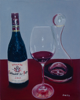 Red Wine,         oil on board
