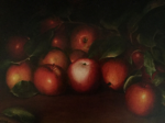 "Apples,                           oil/canvas, 12""x16"""