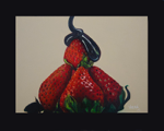 "Strawberries,                 oil/board, 8""x10"""